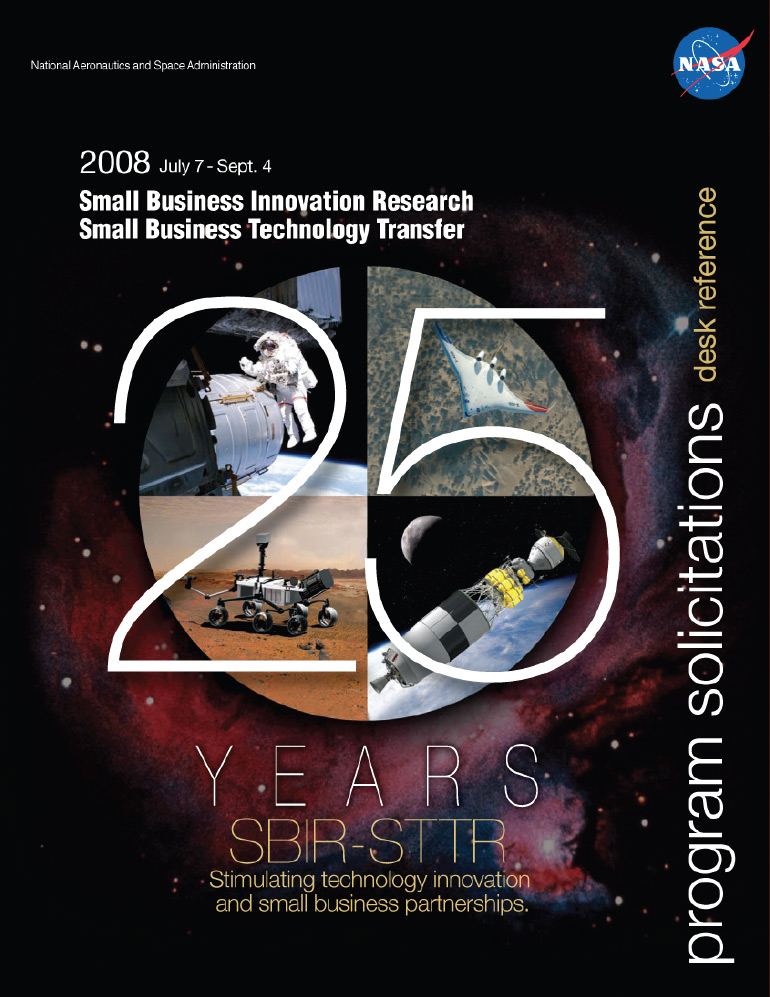 SBIR/STTR 2008 Phase I Solicitation Cover.
